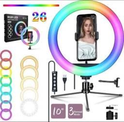 "Título do anúncio: Ring Light RGB Completo 10"" Polegadas"