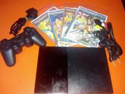 Playstation 2 ps2 completo lendo CD mais memory