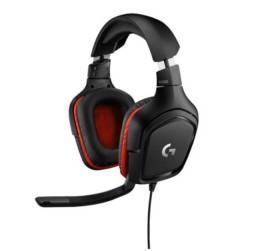 Título do anúncio: headset gamer logitech g332 para PC PlayStation Xbox e Nintendo Switch - Preto/Vermelho