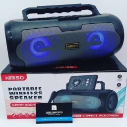 Caixa kimiso bluetooth Pen drive cartão rádio FM entrada para microfone//entrega grátis