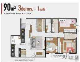 Título do anúncio: Apartamento com 3 dormitórios à venda, 90 m² por R$ 980.000 - Alphaville Empresarial - Bar