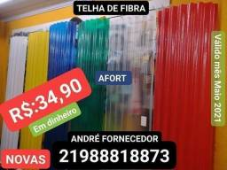 TELHA de FIBRA AFORT FORTLEV 2,44x50 qualquer cor R$:35,00 e PVC APARTIR de R$:89,99