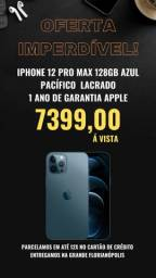 Título do anúncio: iPhone 12 Pro Max 128GB Azul Pacífico Lacrado 1 ano de garantia Apple
