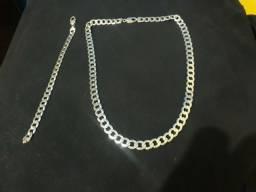 Vendo colar e pulseira de prata 925