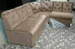 N perca sofás de canto em L de 589 apanas 499 + puff d brinde frete a/c