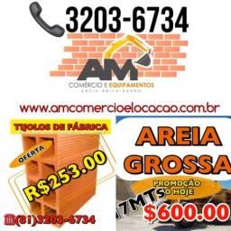MELHOR PREÇO DO MERCADO - Areia Grossa 17mt $ 600.00 - Tijolos $ 253.00