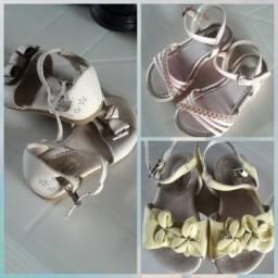 3 parea de sandália da marca pampili por apenas 40 reais