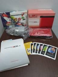 Nintendo 3DS XL Vermelho e Preto + 2 jogos