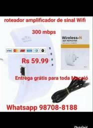 Roteador e ampliador de sinal Wifi