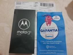 Moto G8 Plus novo nunca usado com nota fiscal e garantia estendida, Leia