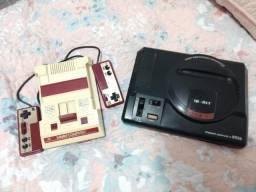 Mega drive + Nintendo Family Computer 8bit japonês