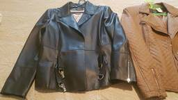 Jaqueta de couro femenina