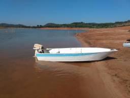 Barco e motor johnson 15 Hp tudo em perfeito estado