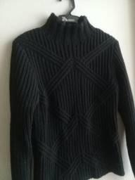 Blusa tricô lã trabalhada
