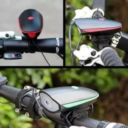 d7d5ead10f5 Lanterna Farol Led Bike Bicicleta Sirene Buzina 250 Lumens