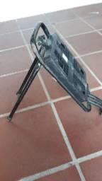 Bagageiro de bicicleta com suporte pra cadeirinha