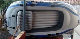 Vendo Bote Inflável 4 lugares com Motor Elétrico 54 - 2012