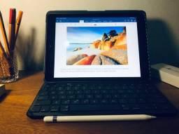 IPad 6° Geração + Apple Pencil + teclado logitech