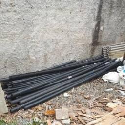 """Eletroduto rígido PVC 1"""" (32mm) e 2"""" (50mm) barra 3m, novo, sobra de obra"""