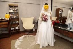 Vestido De Noiva Modelo Princesa - Manga Longa