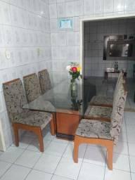 Mesa de Vidro-6 Cadeiras