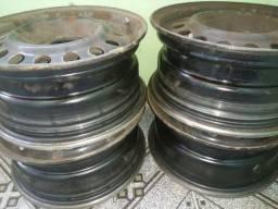 4 Rodas de Ferro Usadas Aro 14 Original Gol G5