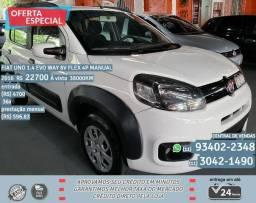 Branco Fiat uno 1.4 evo way 8b Flex 4p manual 2016 38021km R$22.753 - 2016