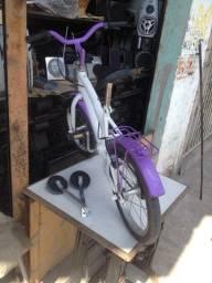 Bicicleta Infantil Aro 16 Verden Breeze Branco e Lilás