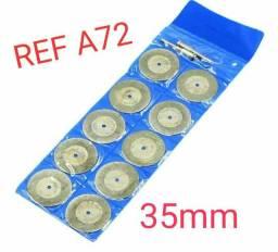 Kit 10 Discos Diamantado Mini Retifica REF A72