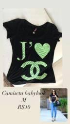 Camiseta baby look vendo ou troco