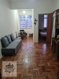 Título do anúncio: Apartamento mobiliado, 1 quarto com armários, sala em 2 ambientes, banheiro social, cozinh