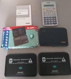 Lote 3 Agenda Eletrônica + Calculadora Científica