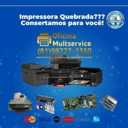 Título do anúncio: Problemas com sua Impressora? Resolvemos Rápido pra você!