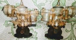 Par carburador motor 1600 com coletores Fusca sp2 kombi variant Brasília 6