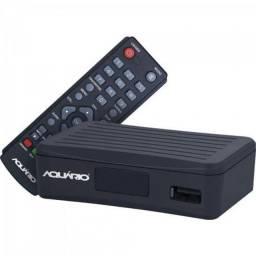 Título do anúncio: Mini Conversor DTV-4000S Preto Aquário<br>