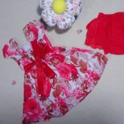 Título do anúncio: Vestido infantil Tam 1 ano