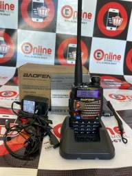 Título do anúncio: Radio Ht Walk Talk Dual Band Uhf Vhf Fm Baofeng Uv-6r ou UV-5RA