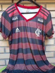 Baby look femenino do Flamengo