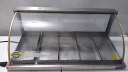 Título do anúncio: Estufa Vitrine Expositora vidro curvo Para Salgados 6  Bandejas Marchesini valor R$449,00