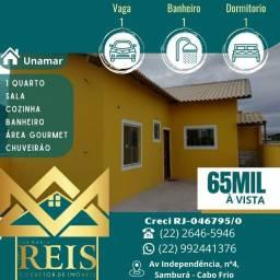 Título do anúncio: RI Casa com 1 dormitório à venda, por R$ 65.000,00 - Unamar - Cabo Frio/RJ