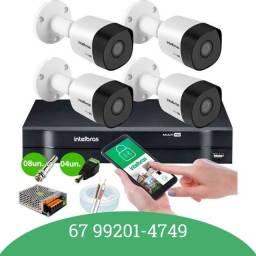 Título do anúncio: Kit 4 câmeras Intelbras