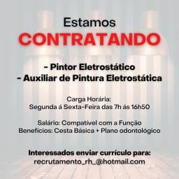 Título do anúncio: CONTRATA-SE - Pintor Eletrostático e Auxiliar (Empresa de grande Porte)