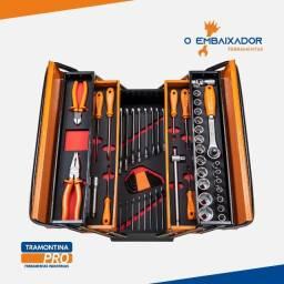 Caixa com ferramentas 57 peças Tramontina Pro