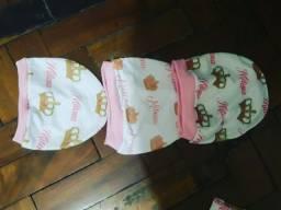 Kit touca personalizada bebê