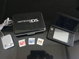 Nintendo 3DS muito novo + case + Mario + Bob Sponja + AngryBd