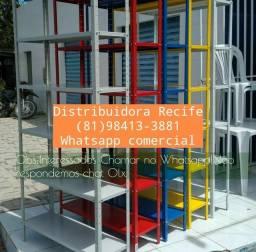 Título do anúncio: Estante de aço reforçada de várias cores e pintura epóxi