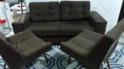 Título do anúncio: Sofa mais poltronas 450 reais