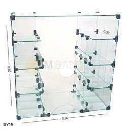 Título do anúncio: Baleiro Caixa De Vidro Temperado 0,60 X 0,60 X 0,30