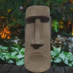 Título do anúncio: Escultura Estatua Moai Ilha de Pascoa