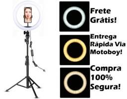 Ring Luminária Kit Acessórios (26 cm + suporte central + Tripé) Fique top! Frete Grátis!
